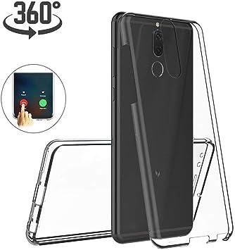 Ptny Funda Xiaomi Pocophone F1, [3.0 Versión Mejorada] [360 Full Body Cubierta] [Frontal y Trasera Completo Protection] Silicona Gel TPU + PC Antiarañazos Cover Case [Transparente]: Amazon.es: Electrónica