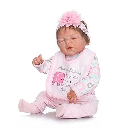 ZIYIUI 22inch 57CM Reborn bebé Realista muñeca niños Cuerpo Completo Vinilo Suave Silicona Rel Reborn Baby Doll pequeños Magnetismo Juguetes Girl ...