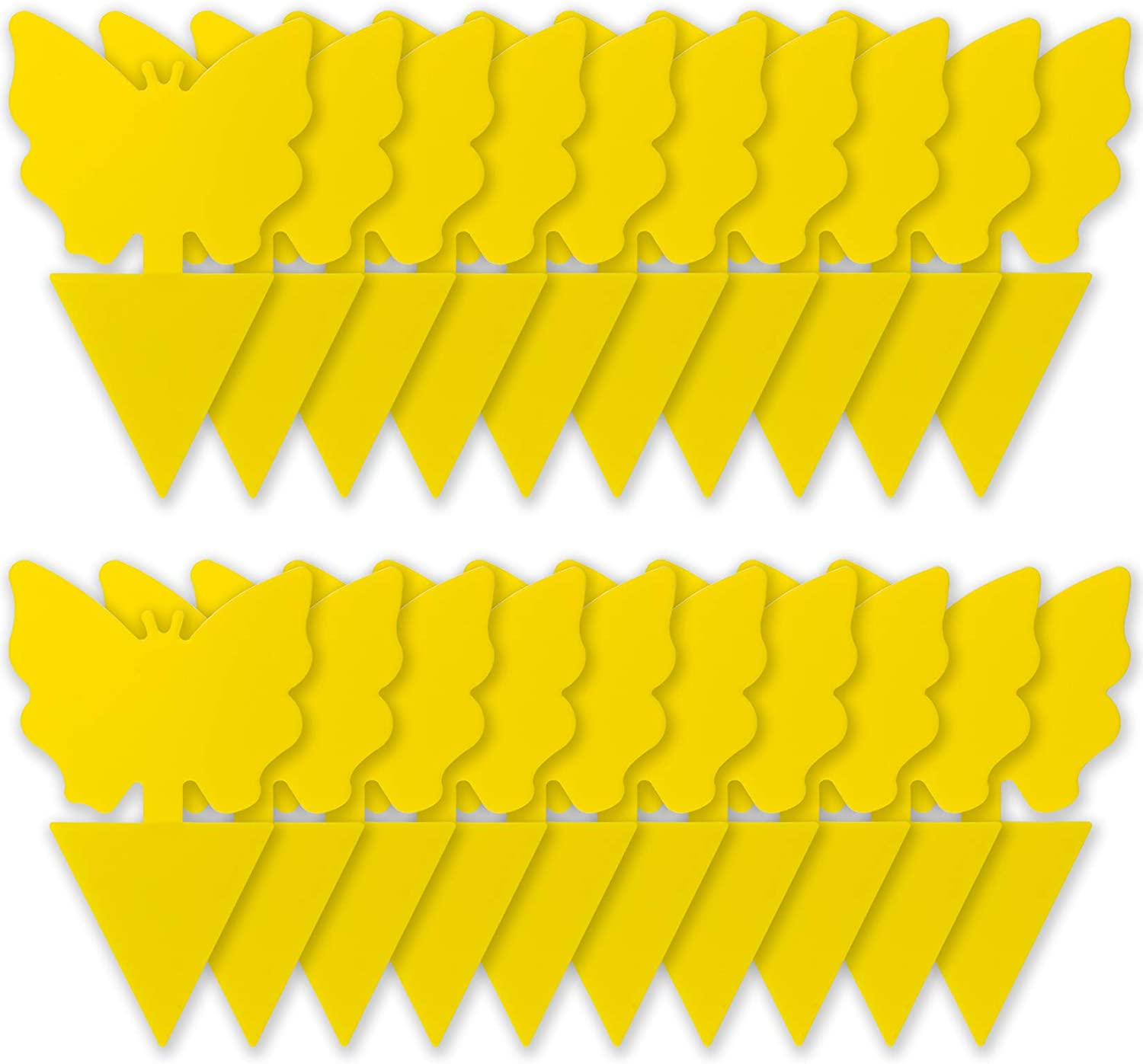 Yellow Sticky Traps, Dual-Sided, for Capturing Insects Like Gnats, Fruit Flies, Aphids, 20PCS