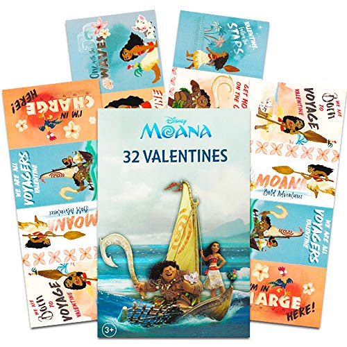 Paper Magic 32 Count Valentines (Moana) -