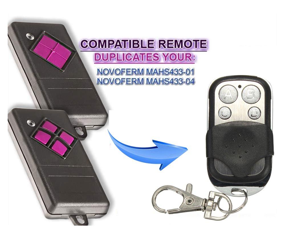 4 Kanal Kompatibel Handsender Dickert Universal Garagentor Fernbedienung Sender Geeignet f/ür MAHS433-01 433.92 Mhz MAHS433-04
