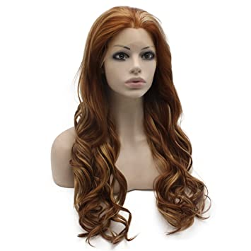 Amazon.com : Mxangel Long Wavy Heat Resistant Fiber ...