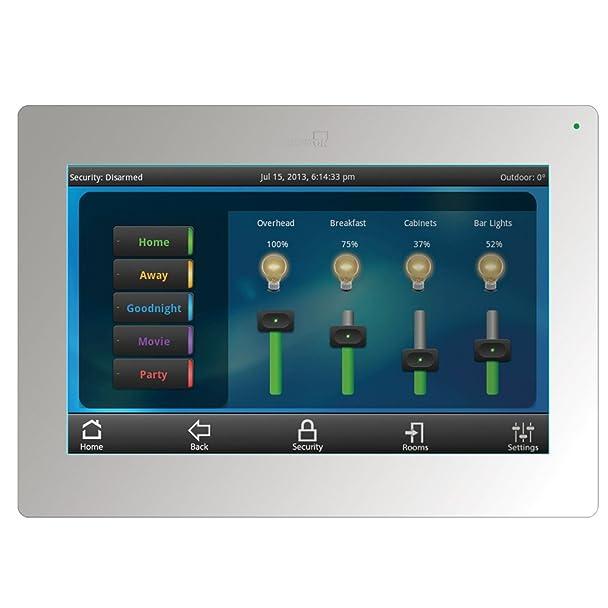 61g37DU1l4L._SX608_ amazon com leviton 99a00 1 omnitouch 7 color touchscreen, white Line Output Converter Wiring Diagram at gsmx.co