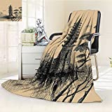 AmaPark Digital Printing Blanket Stone Tiered Tower Style Taoist Of Faith Pale Brown Black Summer Quilt Comforter