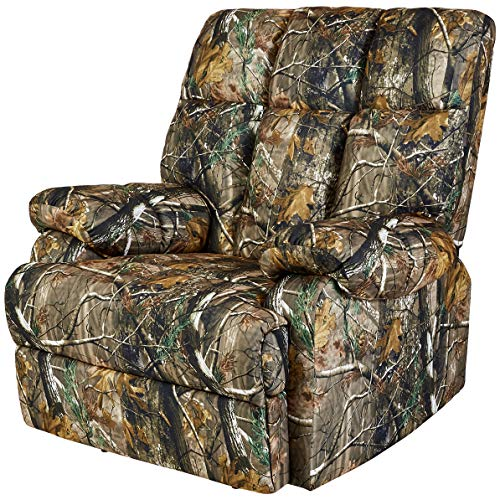 JC Home Liano Rocker Recliner with Camouflage-Print Fabric Upholstery, Jungle Green Camo Living Room Furniture