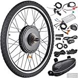 "Best Electric Bicycle Conversion Kits - AW 26""x1.75"" Rear Wheel Electric Bicycle LCD Display Review"