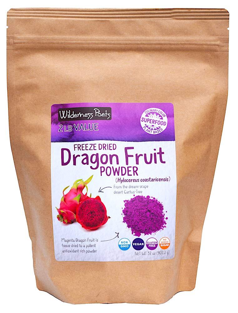 Wilderness Poets Freeze Dried Dragon Fruit Powder - Pitahaya Powder (32 Ounce)