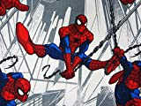 Spiderman Swings Into Action 100% Polyester (Flat Sheet ONLY) Size Twin Boys Girls Kids Bedding