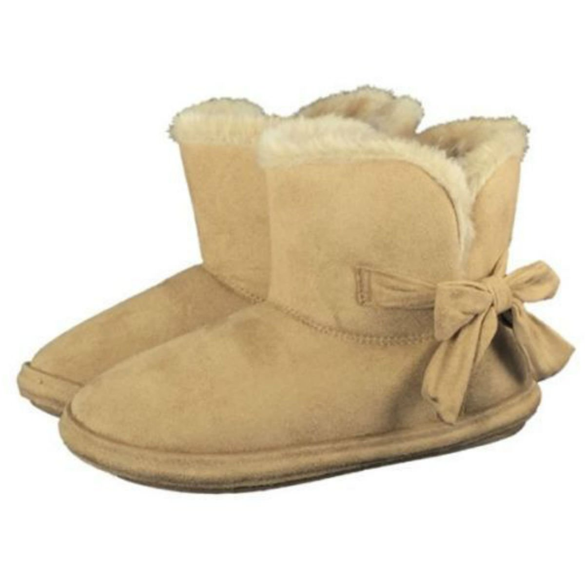 775727e56952 LADIES CHILTERN FUR LINING FUR COLLAR ANKLE BOOT WARM LINED WINTER BOOT  SLIPPER BY JO AND JOE SIZES 3-8 sand 6  Amazon.co.uk  Shoes   Bags