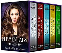 This box set includes all five books in the USA Today recommended Elementals series and is over 1,400 pages of magic, adventure, mythology, and romance.Nicole Cassidy is a witch descended from the Greek gods... but she doesn't know it until s...