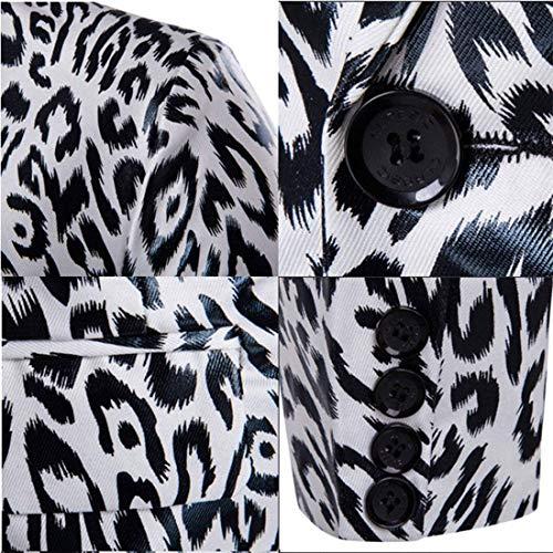 Libero Slim Abbigliamento Il Vintage Giacca Blazer Uomo Moderna Lunghe Da Tempo Maniche Fit Sportiva Cappotto Bianca Per A IzaqqXP