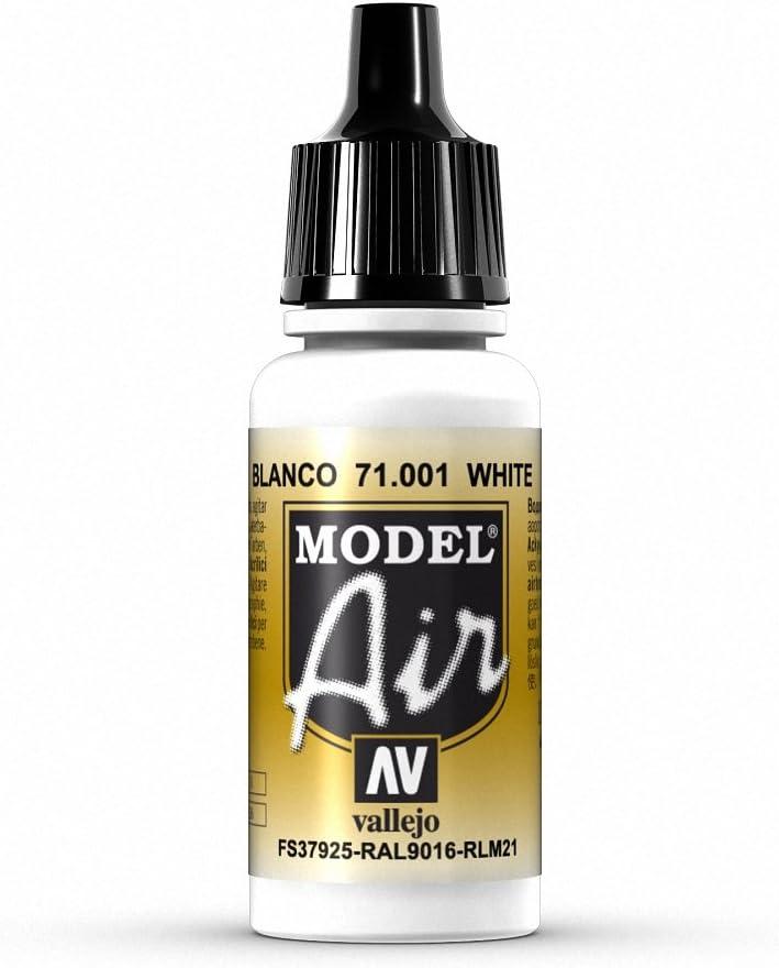 VALLEJO-3071001 71001 Model Air Color Blanco 17ML, Surtido (3071001)