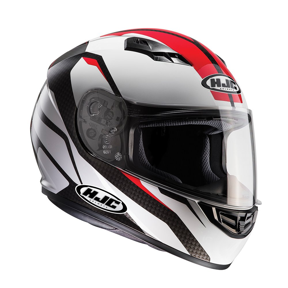 Motorcycle Full Face HJC CS-15 SEBKA MC1 Motorbike Crash Helmet Red
