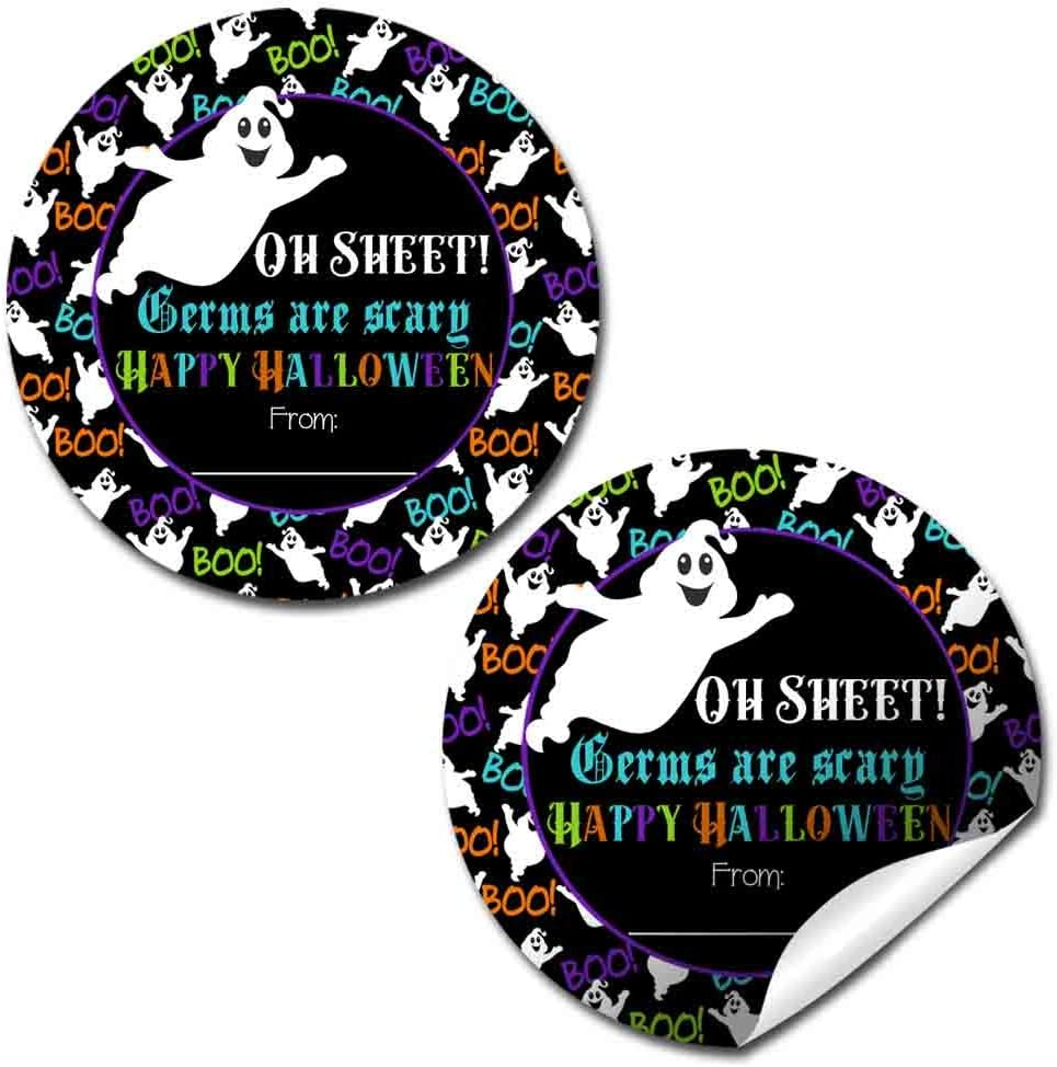 40 Pack Paper Creepy Halloween Character Stickers SET 2