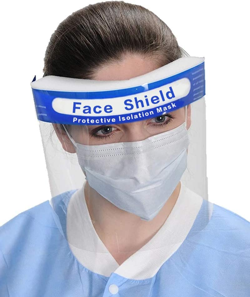 Afoxsos Protective Face Shield-Full Face Covering Safety Shield Dust-proof With Plastic