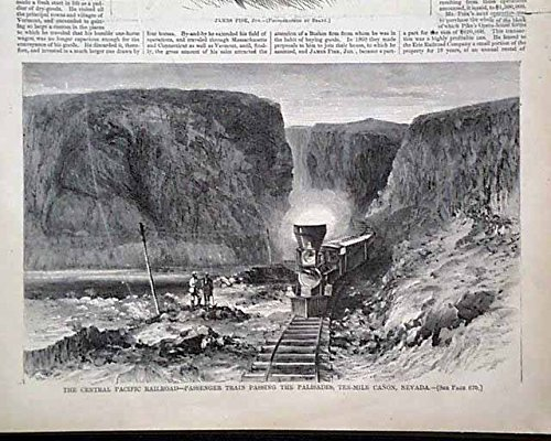 Pacific Railroad Stock (HARPER'S WEEKLY, October 16, 1869 - The New York Stock Exchange, Central Pacific Railroad (near Palisades, Nevada), Cuban Revolution - Prints)