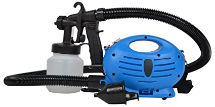 Inditradition 650 W Paint Zoom Electronic Spray Paint Machine Sprayer With Multiple Accessories Blue White