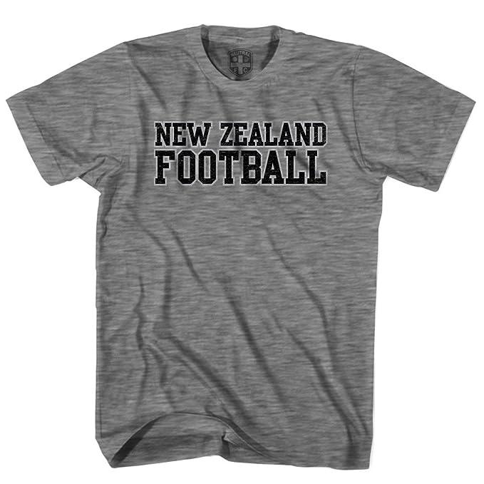 Nueva Zelanda País – Camiseta de fútbol gris gris XL