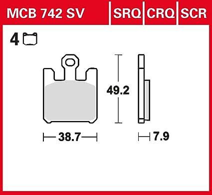 plaquette de freins Lucas MCB742CRQ pour Kawasaki VN 1600 B ...
