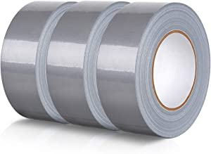 Silver Gray Duct Tape, 3 Rolls Multi Pack Duct Tape, Professional Grade Multi-Use Duct Tape, 1.89 inches Wide by 60 Yard, 7.31Mil Thick, Silver Gray, Pack of 3 by Skytogether