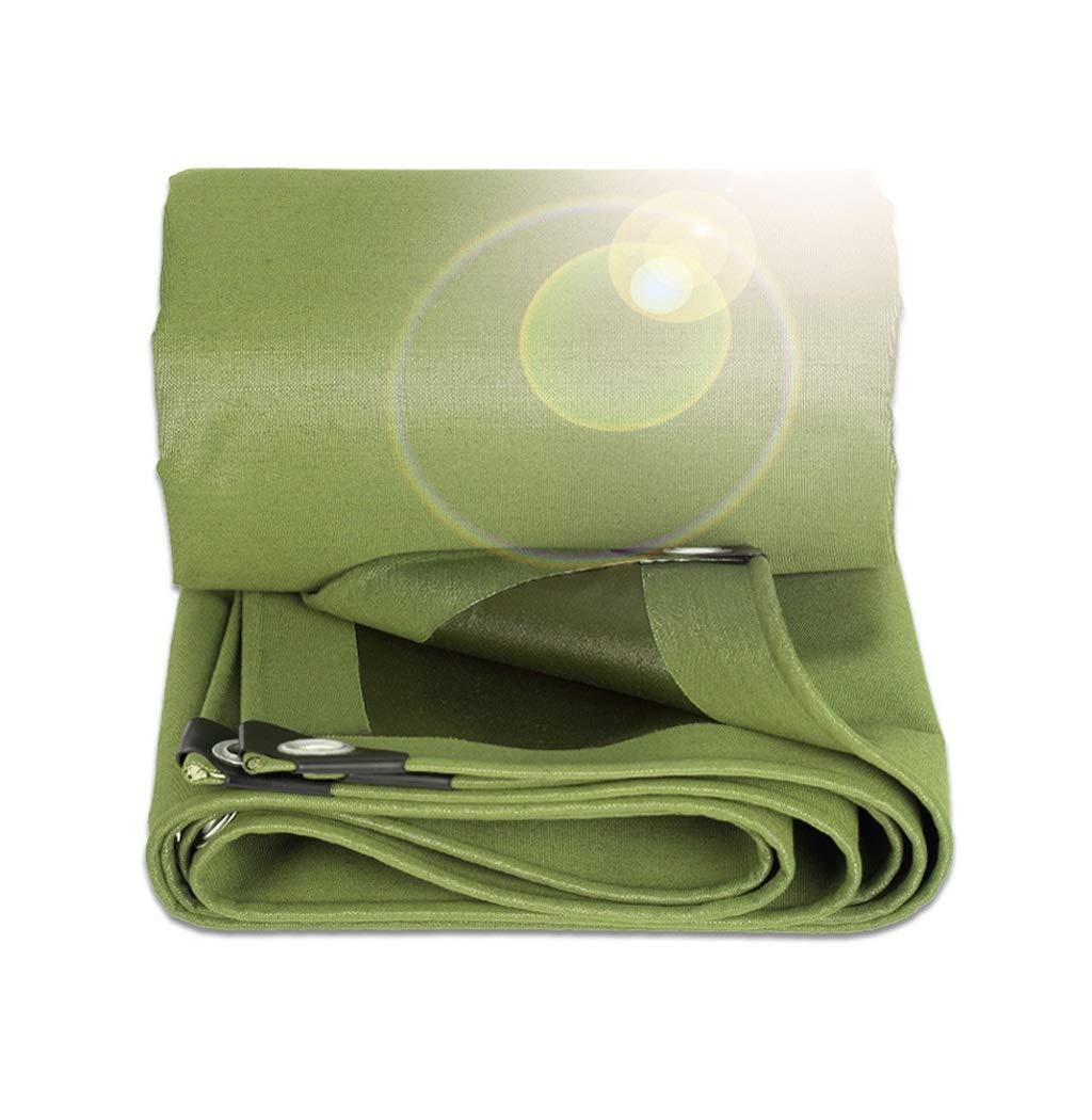 Nwn グロメットが付いている頑丈なキャンバスの防水シート、耐雨性の耐摩耗性の防水シートシート日焼け止め日よけの布 - 600g / mの²、緑 (サイズ さいず : 5*8m) B07QRZJHZ3  5*7m 5*7m