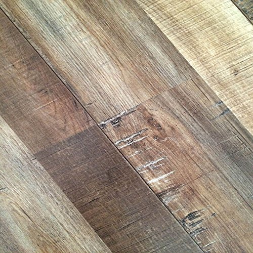 "12mm Thickness Ancient Oak Click Locking Laminate Flooring Planks, 47.83""L x 7.72""W per plank (17.943 Sq. ft./case)"