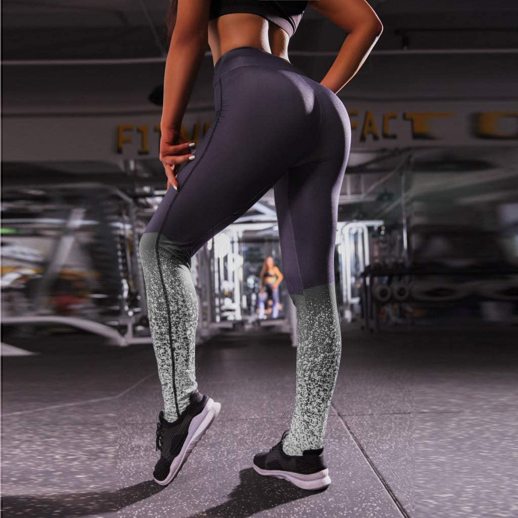 Toraway Ladiesdigital Printed Jacquard Hip and Waist Fitness Yoga Pants Women Running Pants Women Sports Pants