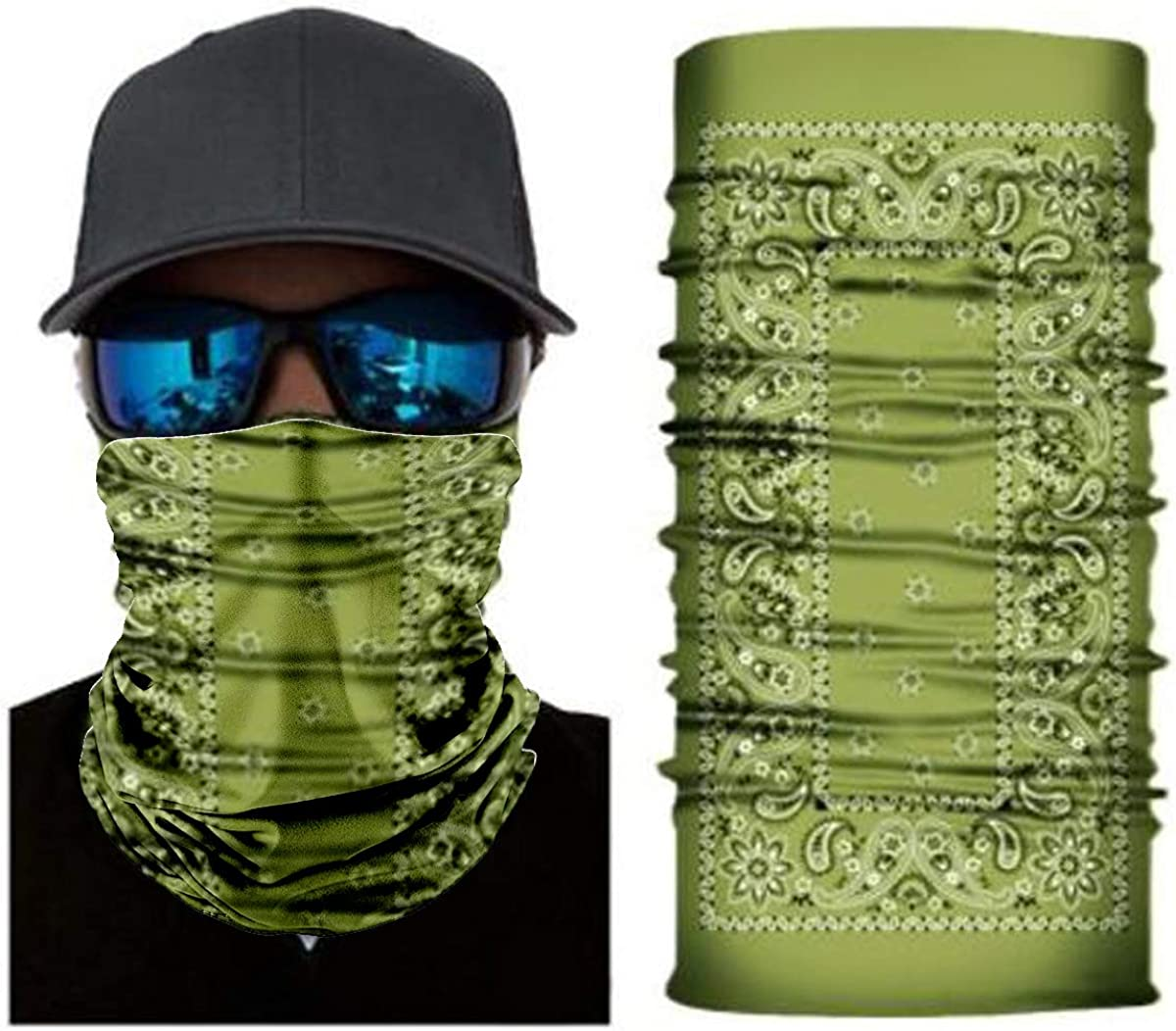 Seamless Headwear Tube Mask for Motorcycle Fishing Running Cycling Half Face Mask for Working UV Sun Mask Dust Wind Neck Gaiter Nutravicity Paisley Bandana Face Mask