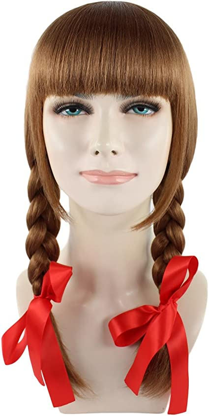 Exclusive! Annabelle Movie Brown Cosplay Party Costume Wig Peluca ...