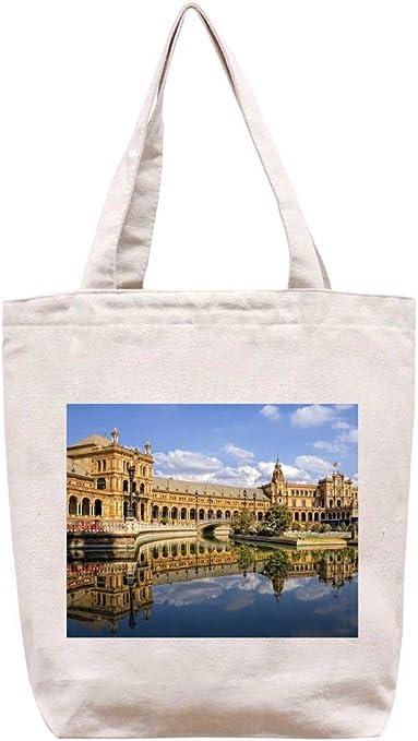 Sevilla-España - algodón bolsa para herramientas de lona: Amazon.es: Hogar