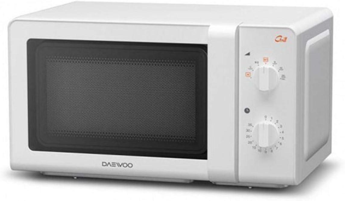 Daewoo KOG-6F27 Microondas, 20 litros, con grill, color blanco, 700 W