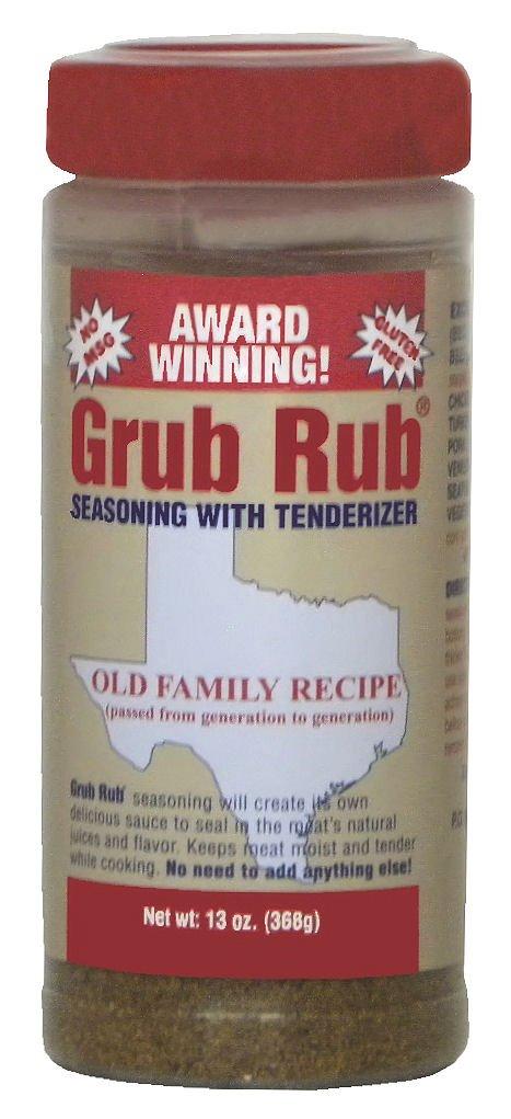 Grub Rub Meat Tenderizer, Seasoning, Marinade Dry Rub Meats, Vegetables (Single)