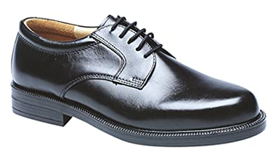 Mens New Black Leather Lined Capped Fashion Shoes Size UK 6 7 8 9 10 11 12