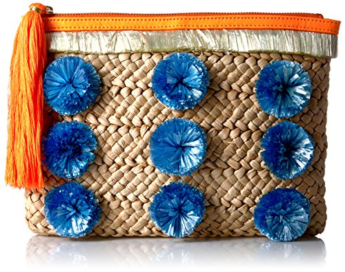 MILLY Pom Straw Clutch, Natural by MILLY