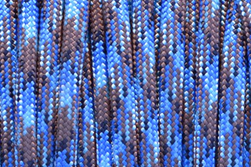BoredParacord Brand Paracord/Parachute Cord 7-Strand, 550 Lb. Break Strength Guaranteed U.S. Made, Type III - Abyss (50 feet) by BoredParacord (Image #1)