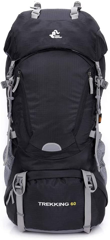 60L Lightweight Durable Mountaineering Bag Large Travel Rucksack Backpack