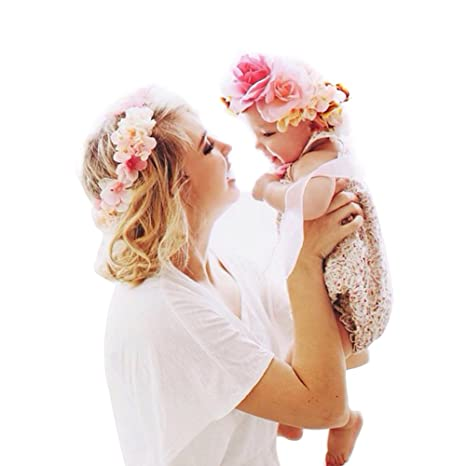 Fiori Bohemien Matrimonio : Amorar fascia per capelli genitore bambino fatta a mano bohemien