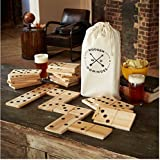 Refinery Jumbo Wood Dominoes 28 Piece Game Set