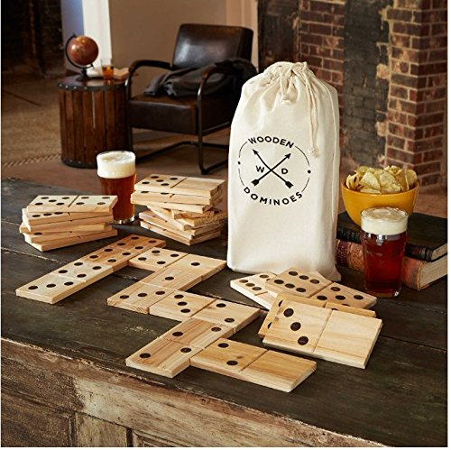 Refinery Jumbo Wood Dominoes 28 Piece Game (28 Piece Domino Sets)