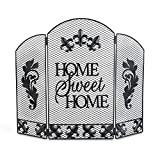 Collections Etc Home Sweet Home Decorative Fireplace Screen, Metal, 25.25 x 24 inches