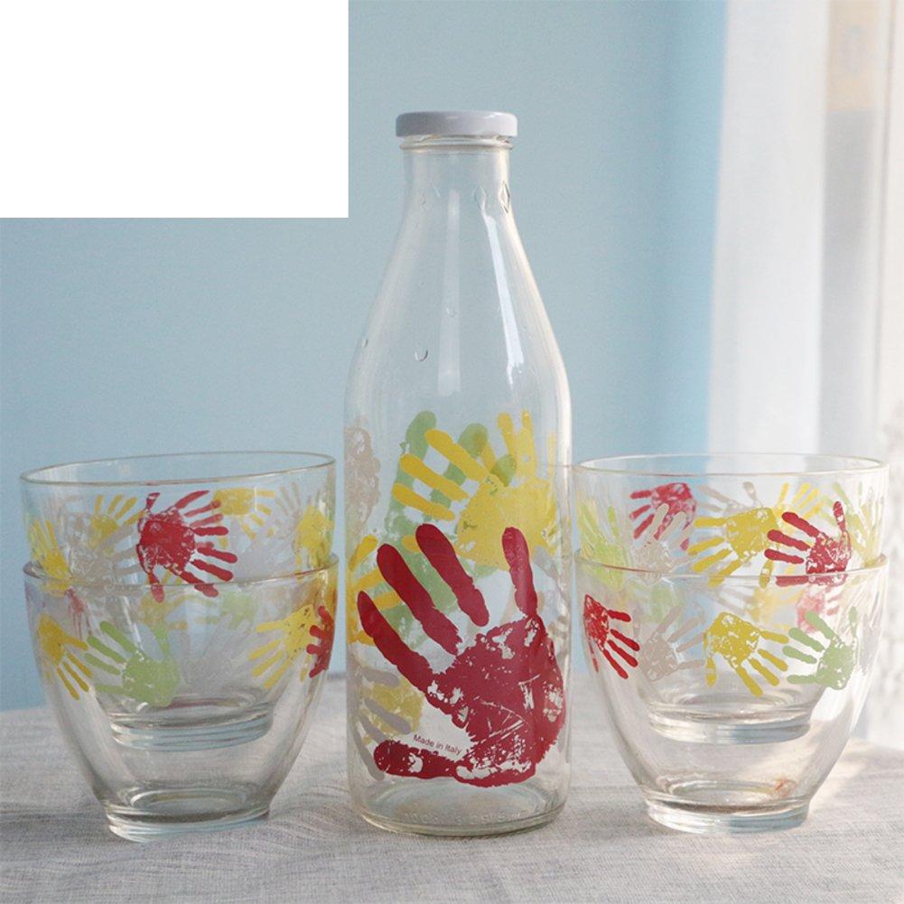 Xwuhan Glas-wasserkocher Saftkanne Milchschale European-Style Trink-Geschirr Set Von 5-A
