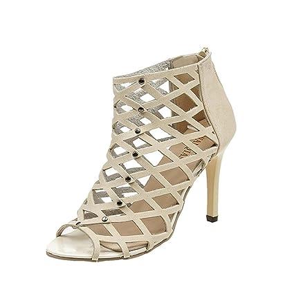 4e9ff8f4191645 Elecenty Damen Sandalen Schuhe,Schuh Sommerschuhe Bequeme Shoes Sandaletten  Frauen Peep Toe High Heels Hoch
