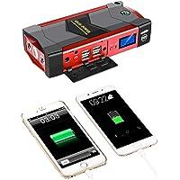 WanZhuanK Arranque portátil de carro 2000 A, bateria de carro de proteção inteligente, lanterna de LED 4 USB, carregador…