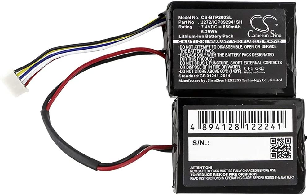 bateria de reemplazo para Beats Pill 2.0, B0513 7.40V 850mAh