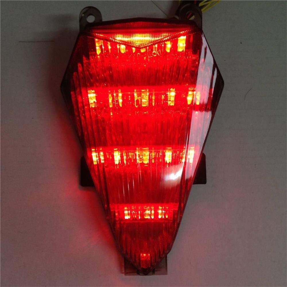 SODIAL For Yzf R6 2006-2010 Motorcycle Rear Led Tail Light Brake Turn Signals Integrated Brown