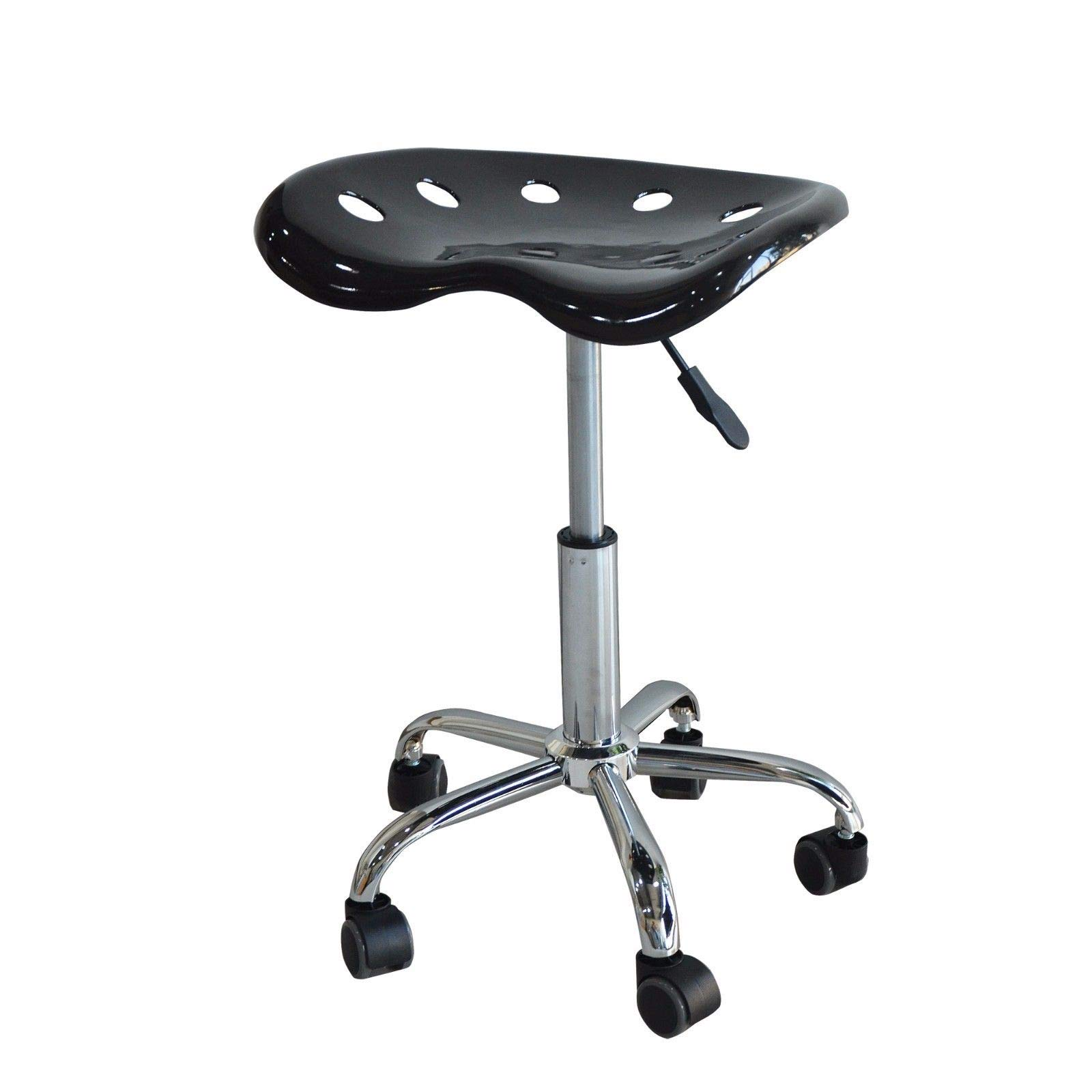 ABS Tractor Seat Counter Bar Stool- Adjustable Height Swivel Shop Chair