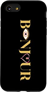 iPhone SE (2020) / 7 / 8 Cute Evil Eye And Heart French Language Teacher Bonjour Case