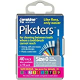 Piksters 0.35 mm Size 0 Silver/Grey Interdental Brush - Pack of 40