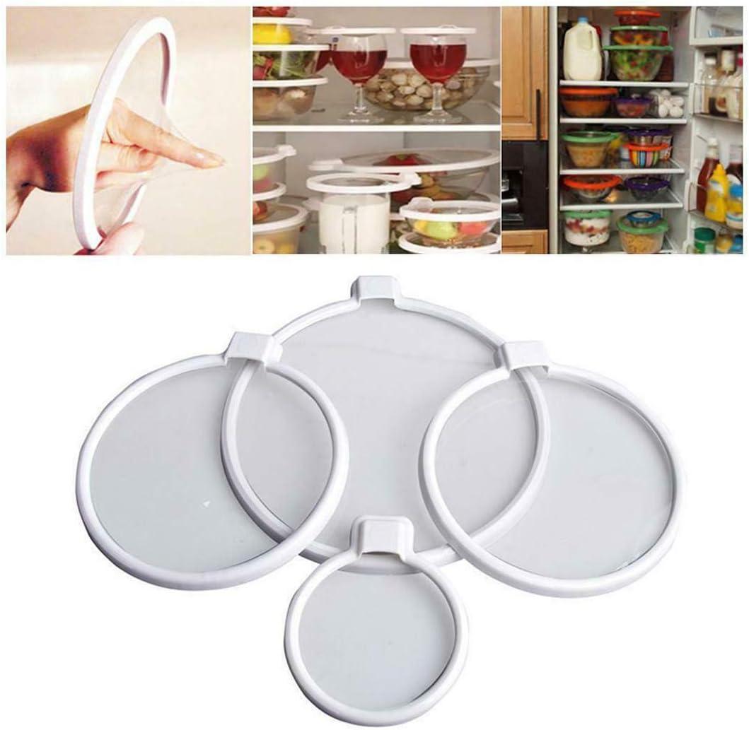 Dragon Honor 4PCS Keepeez Vacuum Food Sealers Lid Press N Seal Bra Free Preserve Food