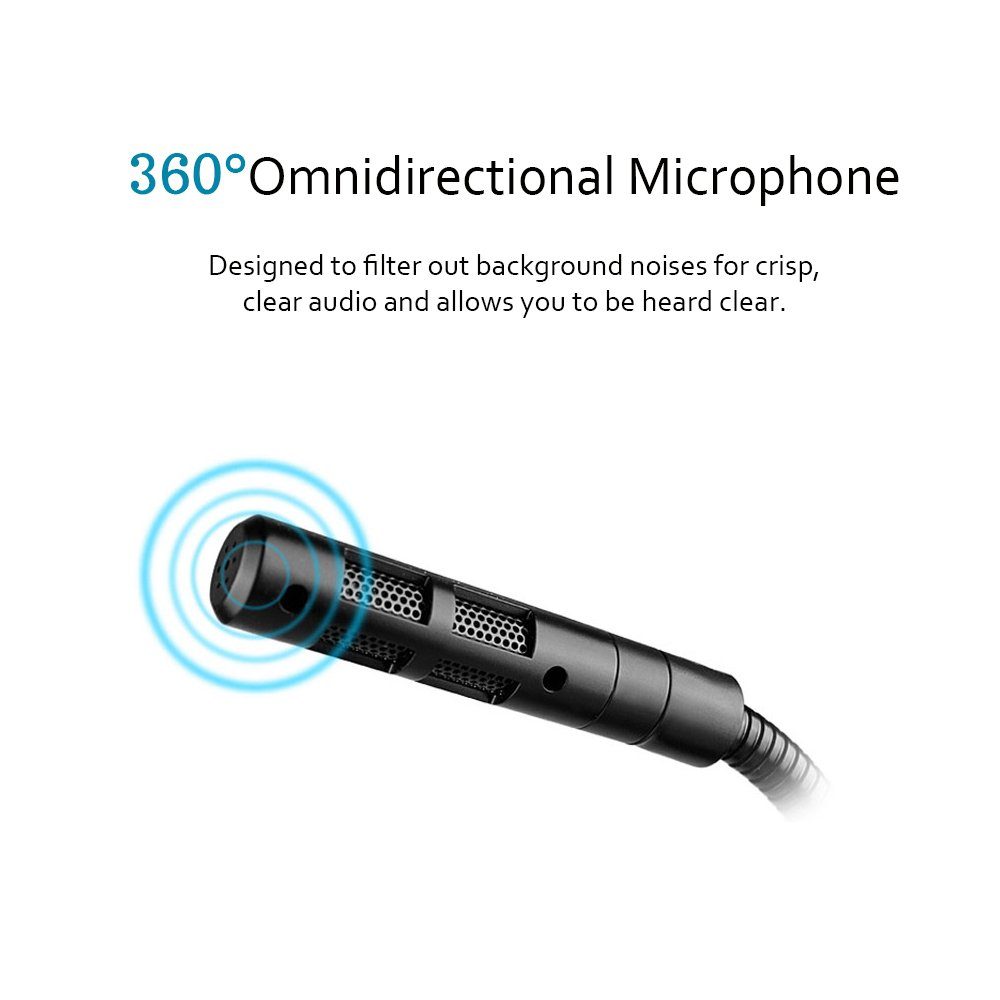 USB Microphone, Microphone for Computer Desktop Laptop Notebook Plug & Play for Recording, Gaming, Podcasting, Online Chatting by XIAOKOA (A2-USB-Black) by XIAOKOA (Image #2)